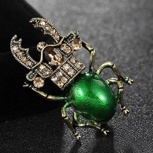 🆕 Green Insect Brooch
